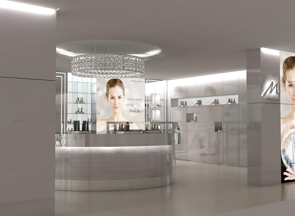 Magma cosmetic - concept shop design